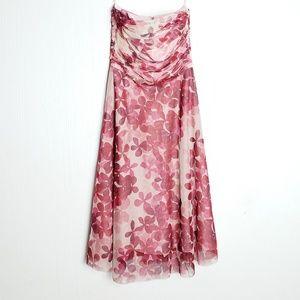 BCBG Maxazria Strapless Floral Dress • 6